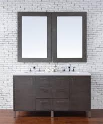 Bathroom Vanity Ideas Double Sink Colors Abstron 60 Inch Silver Oak Finish Double Sink Bathroom Vanity