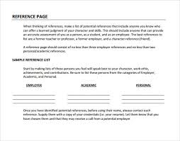 sample reference page template 9 documents in pdf