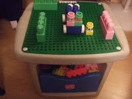 Little Tikes Lego Table Amazon Com Step 2 Lego Duplo Mega Block Play Table With Storage