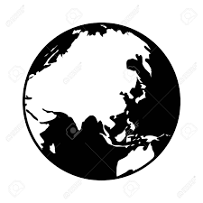 World Map Silhouette World Map Globe Or Planet Earth Showing Asia Flat Icon For Apps