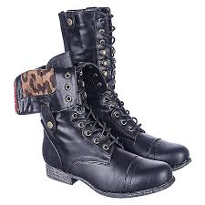 womens combat boots bamboo 01n s black lace up combat boots shiekh shoes