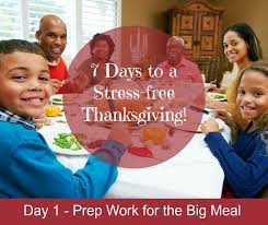 7 days to a stress free thanksgiving day 1 prep work