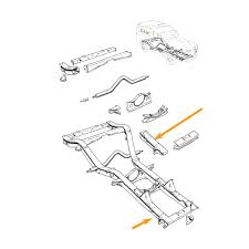 front chassis leg repair section r h 26