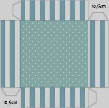 light blue and white stripes and polka dots free printable boxes