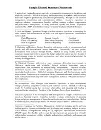 executive summary for resume examples summary statement for resume examples vibrant ideas example of