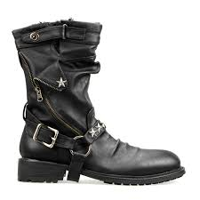 mens black leather motorcycle boots rambleshoes rakuten global market cowhide leather mens boots