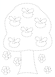 printable 2014 apple tree trace and coloring page for kids