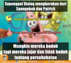 Meme Komik Spongebob - meme comic spongebob tentang sahabat expo dp bbm