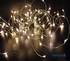 warm white ultra thin invisible silver copper wire led starry