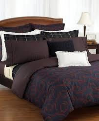 lauren millbrook burgundy paisley king duvet cover set 17 pc new