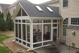 Backyard Screen House by Screened Porch In Potomac Maryland With Screeneze Deck Screens