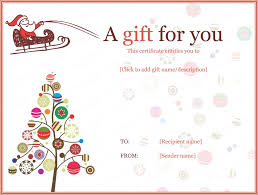 christmas gift certificate template free download best idea