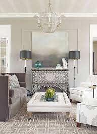 quiet chic room with sophisticated fabric smoky gray palette and