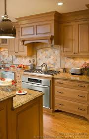 kitchen backsplash tile ideas with wood cabinets pictures of kitchens traditional light wood kitchen