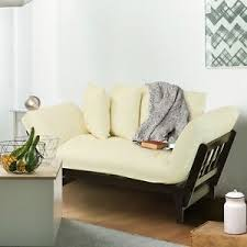Plush Sofa Bed Modern White Sofa Bed Lounger Casual Cushion Furniture Plush