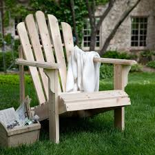 unfinished fir wood adirondack chair outdoor patio furniture holds