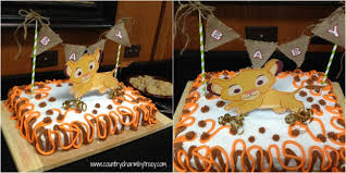 Lion King Baby Shower Cake Ideas - baby lion king shower and mini diaper cake table decoration tutorial