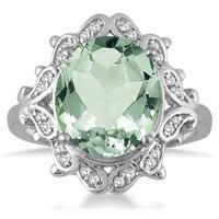 green amethyst engagement ring green amethyst rings