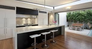 plancher cuisine bois comptoir de cuisine granite au sommet