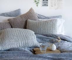 blue linen duvet cover sweetgalas