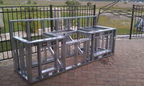 kitchen island kit 6 ft outdoor kitchen island frame kit fireside kitchens in