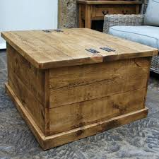 coffee table vintage industrial chest storage trunk coffee table