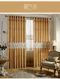 royal golden luxury curtains for living room bedroom embroidered