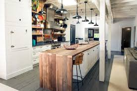 white kitchen wood island narrow industrial kitchen white island with wooden countertop 8