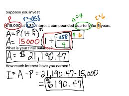 showme recursive formula for compound interest