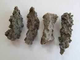 4 fulgurite lightning strikes sand raw crystals healing