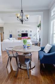 breakfast nook update with round farmhouse table the home i create