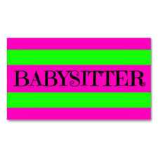 babysitting business cards free templates 100 images family