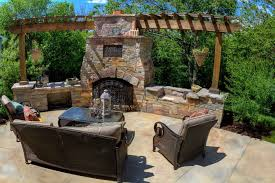 wood burning fireplace contemporary open hearth built in pergola eden stone