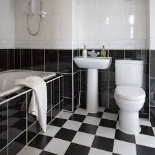 Black And White Checkered Tile Bathroom Over Bath Shower Photos Design Ideas Remodel And Decor Lonny