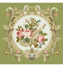 country roses violin needlepoint kits