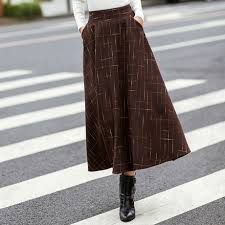 Wool Skirts For Winter Compare Prices On Leather Swing Skirt Online Shopping Buy Low