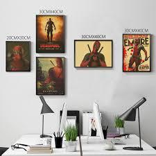 Superhero Home Decor Vintage Marvel Superhero Deadpool Hd Movie Poster Retro Kraft
