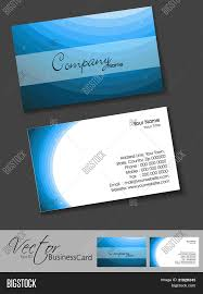 professional business card set template or visiting card