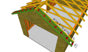 how to build a garage roof howtospecialist how to build step installing the overhangs