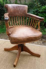 les de bureau anciennes fauteuil de bureau ancien pivotant bois assise ety dossier cuir