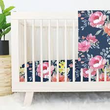 Pink Floral Crib Bedding Pink Crib Bedding Caden Tagged Floral Nursery