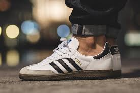 white samba the adidas samba is back in focus this season with its return in