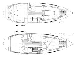 interior layout the nor sea 27 sailboat bluewaterboats org