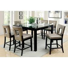 inlaid dining table and chairs furniture of america vanderbilte 9 piece glass inlay counter height