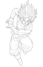 goku black super saiyan rose 2 lineart by frost z on deviantart