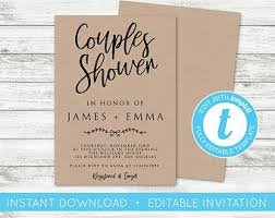 couples shower invitations shower invite etsy
