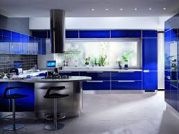 Modern Kitchen Interior Design Ideas Blue Kitchen Decorating Ideas With Purple Color Combination