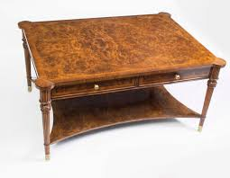 antique coffee tables large elegant table 01410 burr walnut with