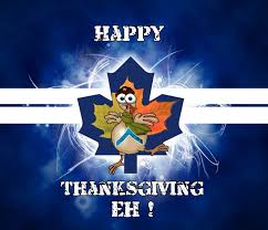 happy canadian thanksgiving sports mostly toronto maple leafs