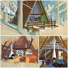 a frame home interiors a frame house vintage cabin mid century modern and cabin